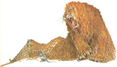 Fable - Image le lion et le rat ...